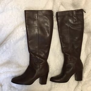 Cole Haan boot size 5, 2 inches square heels